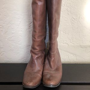 Brown Leather Knee Boots